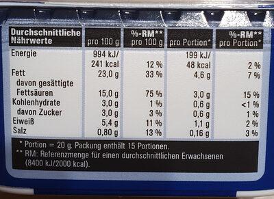Frischkäse Der Cremige - Informations nutritionnelles - de