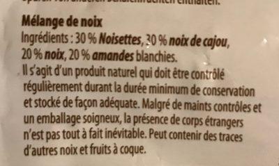 Mélange de noix - Ingrediënten - fr