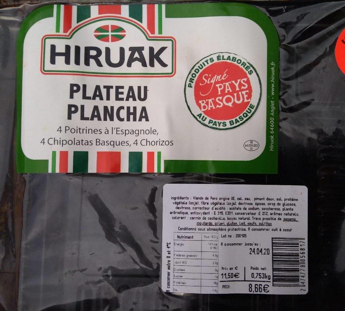 Plateau plancha - Produit - fr