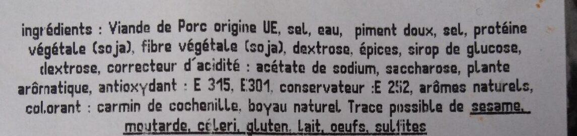 Plateau plancha - Ingrédients - fr