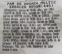 Pan de hogaza multicereales - Informació nutricional