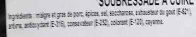 Soubressade à cuire - Ingrédients - fr
