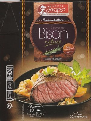 2 pavés de Bison nature - Produit - fr