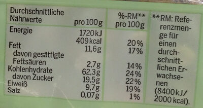 Bio Beeren Hafer Crunchi Müsli - Nutrition facts - de