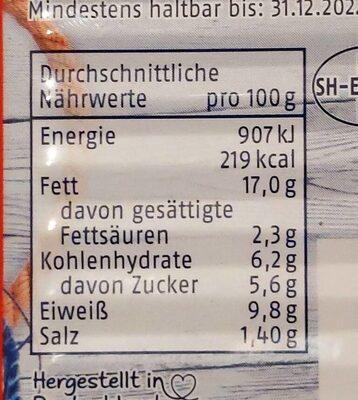 Heringsfilets in Tomaten-Creme - Informations nutritionnelles - de