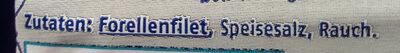 Berida Forellen filets Ohne Haut - Zutaten - de