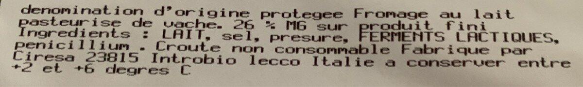 gorgonzola dop - Ingrédients - fr