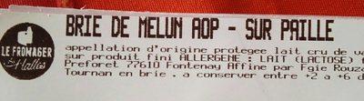Brie de Melun - Product