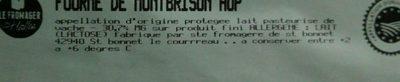 Fourme de Montbrison - Ingredients