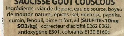Saucisse goût Couscous - Ingrédients - fr