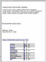 Cuisses de lapin coupées en 2 à la provençale - Nutrition facts