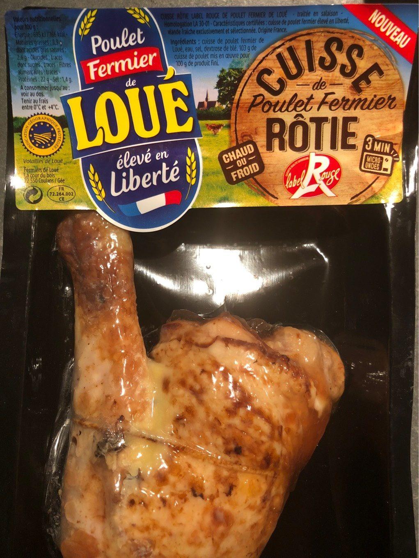 Cuisse de Poulet fermier rotie label rouge - Product