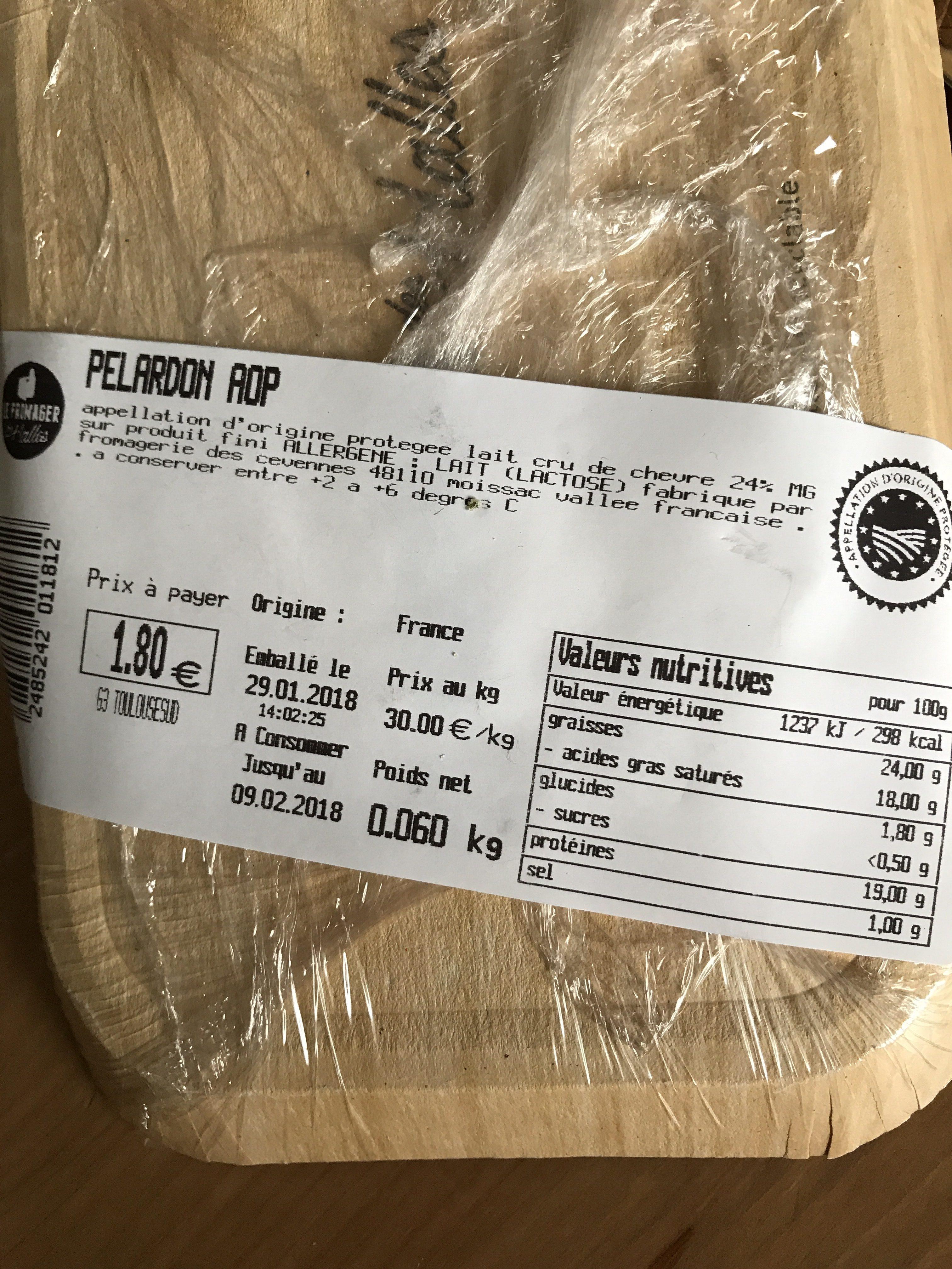 Pélardon délice des Cévennes - Fromage de chèvre au lait cru - Ingrédients - fr