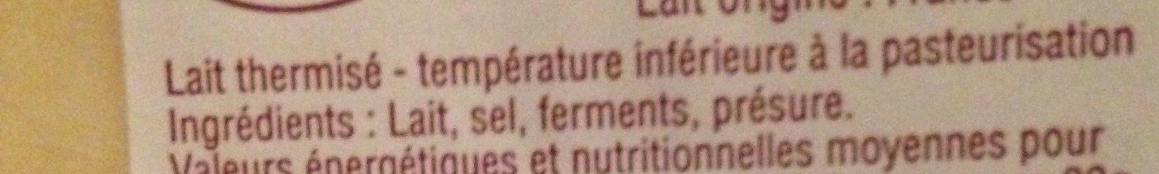 Tomme de Savoie - Ingredients - fr
