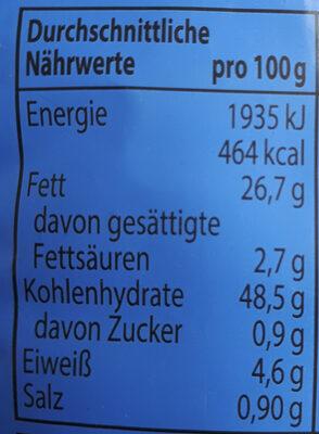 Tortillas Gesalzen - Nutrition facts