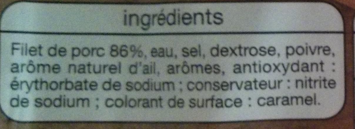 Filet de porc - Ingredients