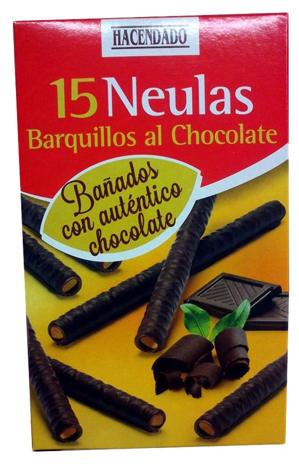 Neulas barquillos al chocolate - Producto