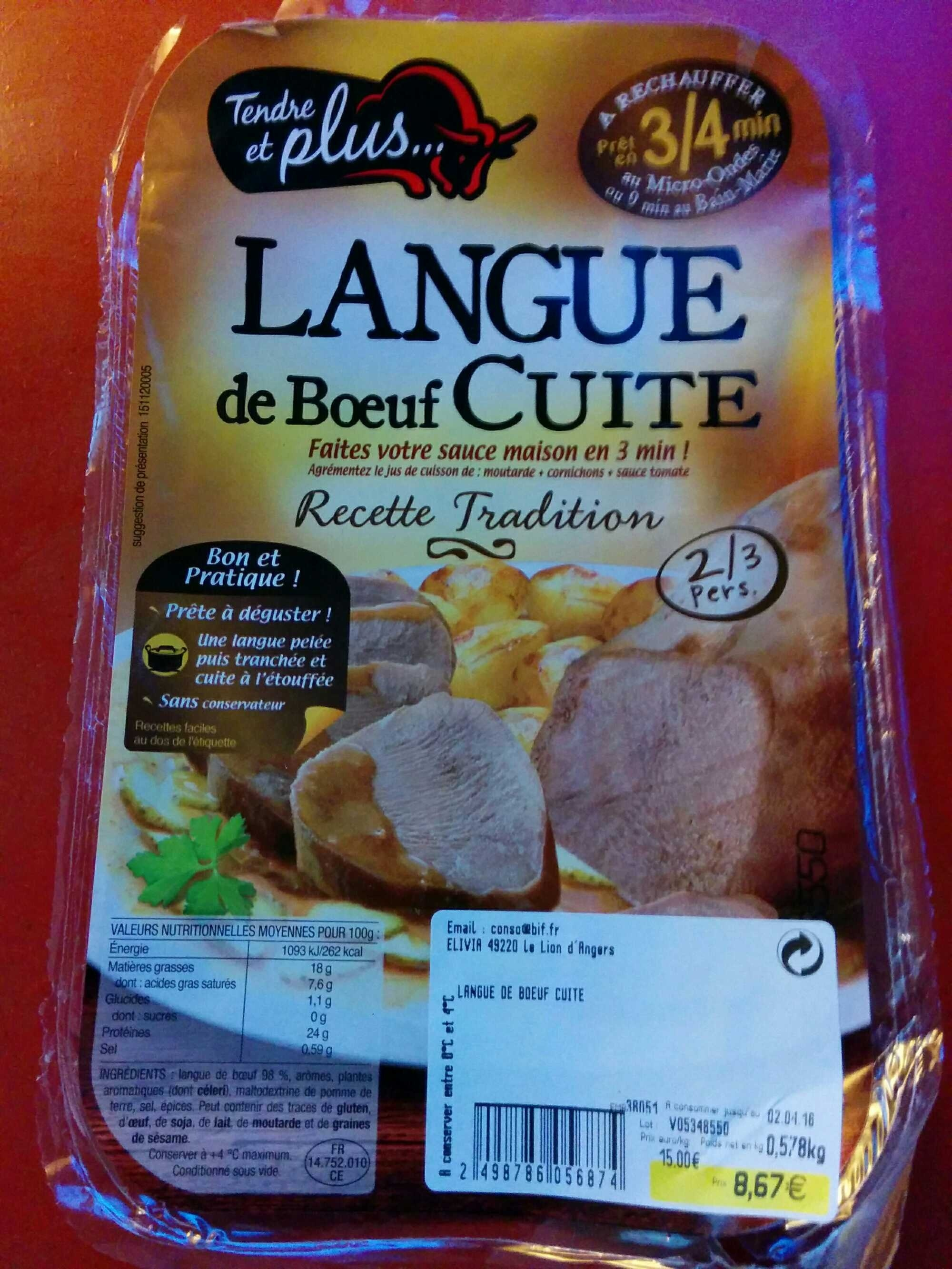 Langue de boeuf cuite - Product