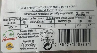 Solomillo de Cerdo - Nutrition facts - es