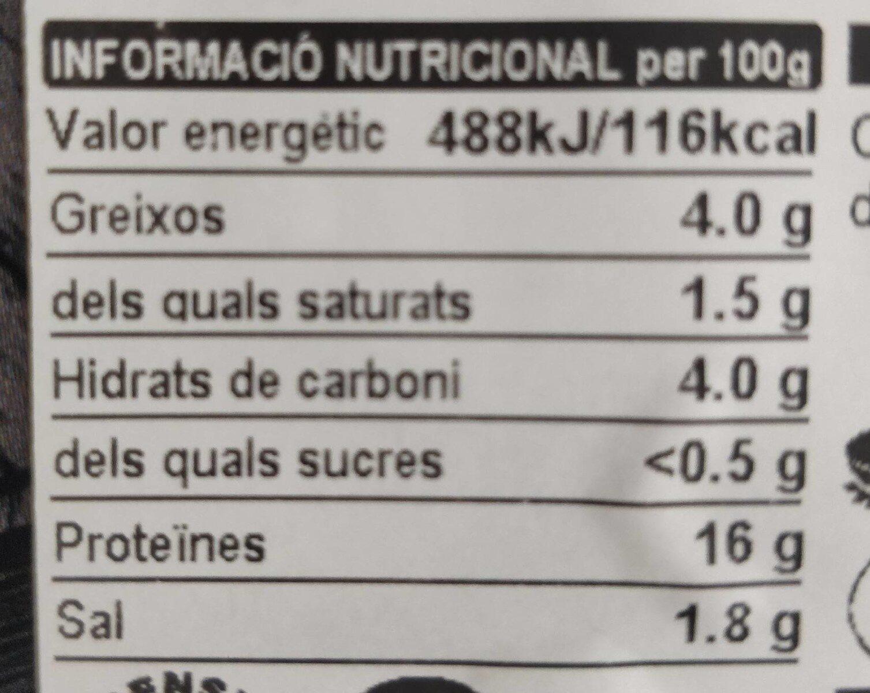 Burger meat de biatec picat - Voedingswaarden - es