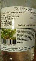 eau de coco - Ingrédients - fr