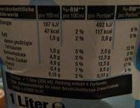 haltbare Milch fettarm - Nährwertangaben