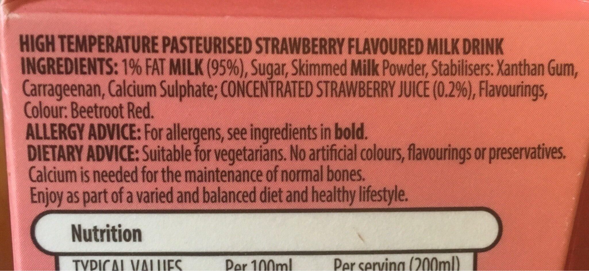 Strawberry flavoured milk - Ingredients - en