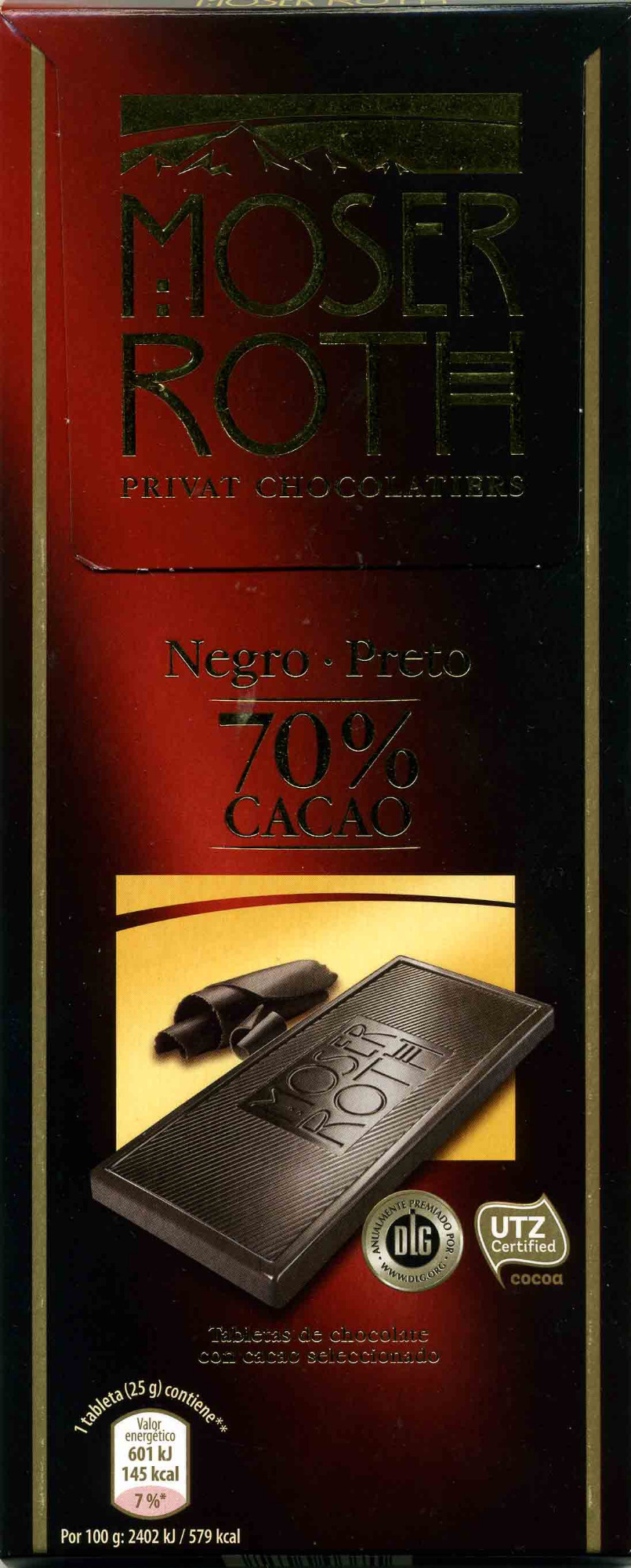 Chocolate negro 85% cacao - Producto