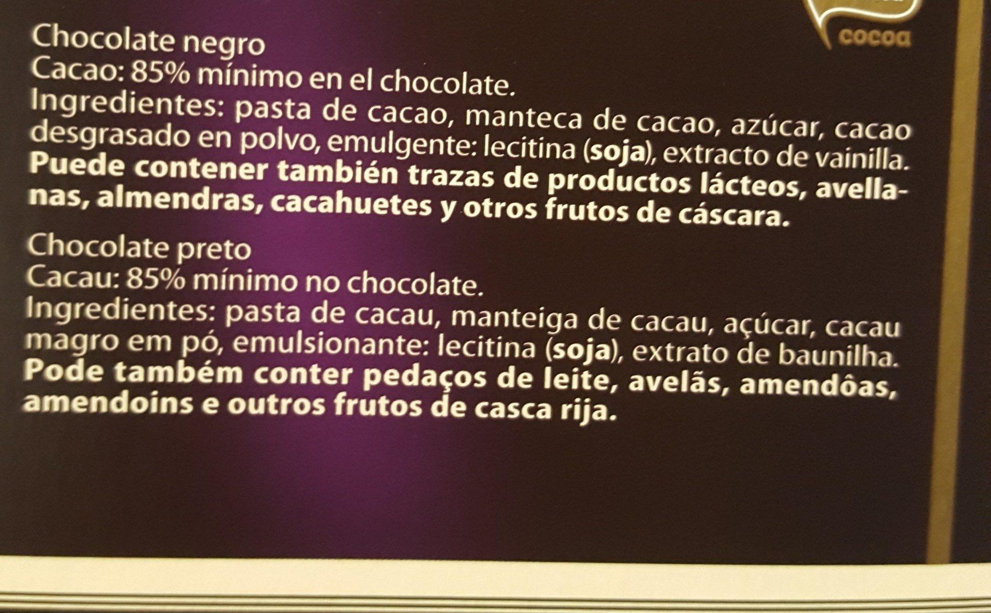 Chocolate negro 85% cacao - Ingrédients