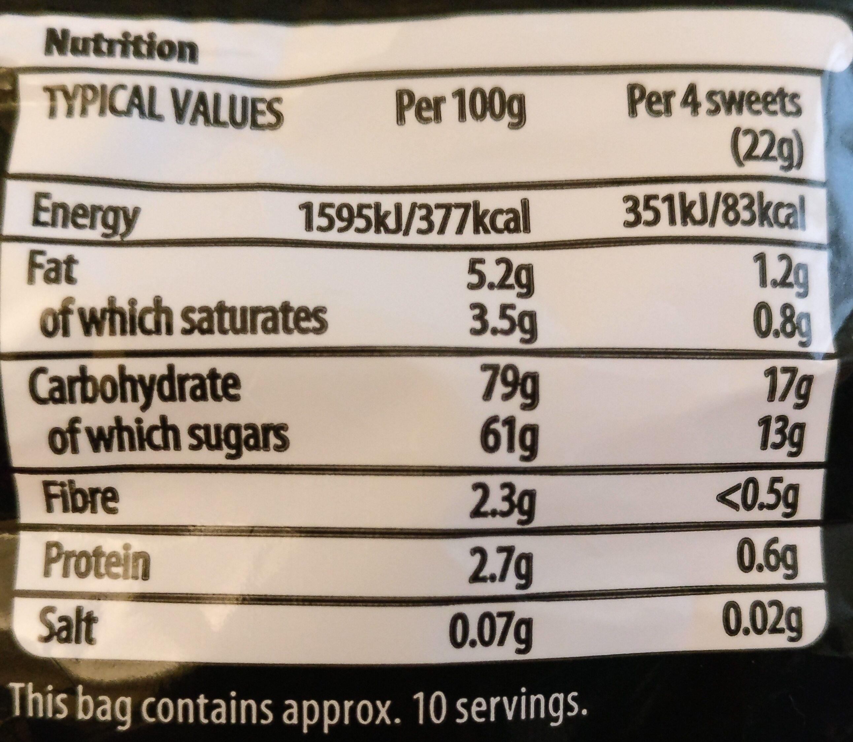 Liquorice - Valori nutrizionali - en