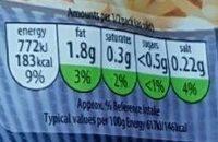 Classic Basmati Rice - Informations nutritionnelles - en