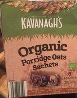 Organic porridge oats sachets - Produit