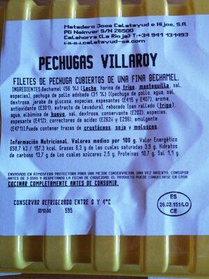 Pechuga Villaroy - Información nutricional - es