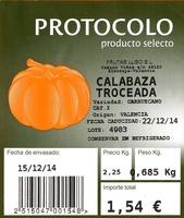 """Calabaza troceada """"Protocolo"""" - Ingredients"""