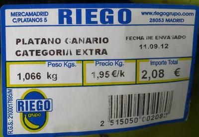 Plátanos de Canarias - Ingredientes - es