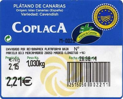 """Plátanos """"Coplaca"""" - Ingredientes"""