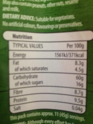 Muesli Fruit & Nut - Voedingswaarden