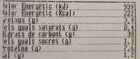 Pa Llavors - Informations nutritionnelles - es