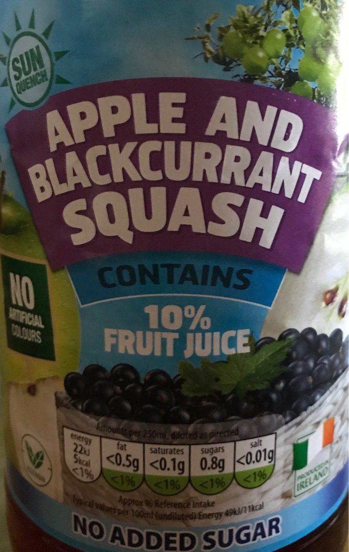 Apple and Blackcurrant squash - Produit - fr