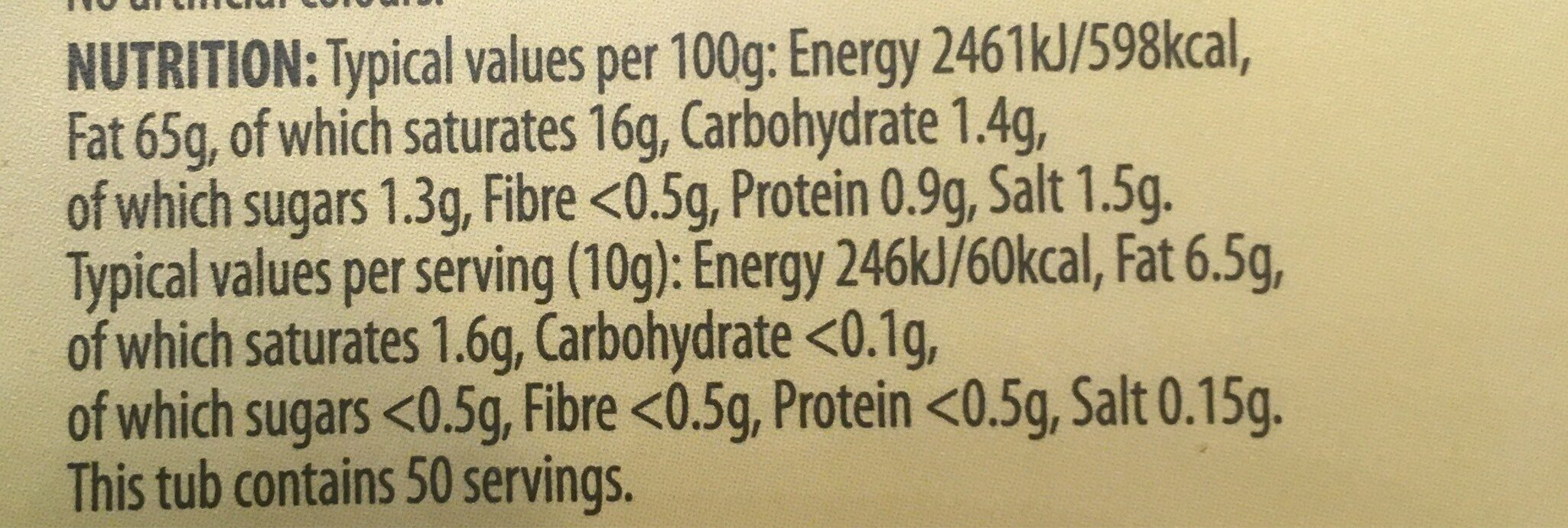 Lovely - Nutrition facts - en