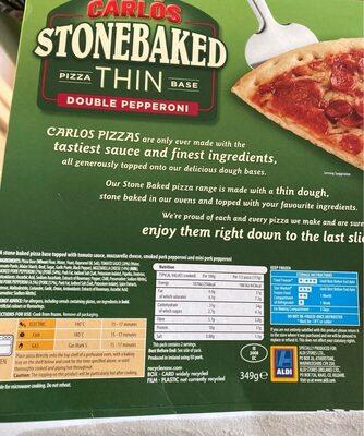 Pizza double pepperoni - Informations nutritionnelles - en