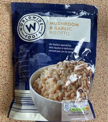 Mushroom and Garlic Risotto - Produit - en