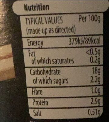Sweet Chilli Noodles - Informations nutritionnelles - en