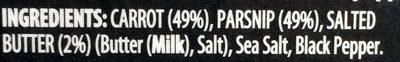 Mashed Carrot & Parsnip - Ingredientes