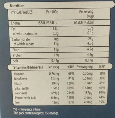 Malted Wheaties - Nutrition facts