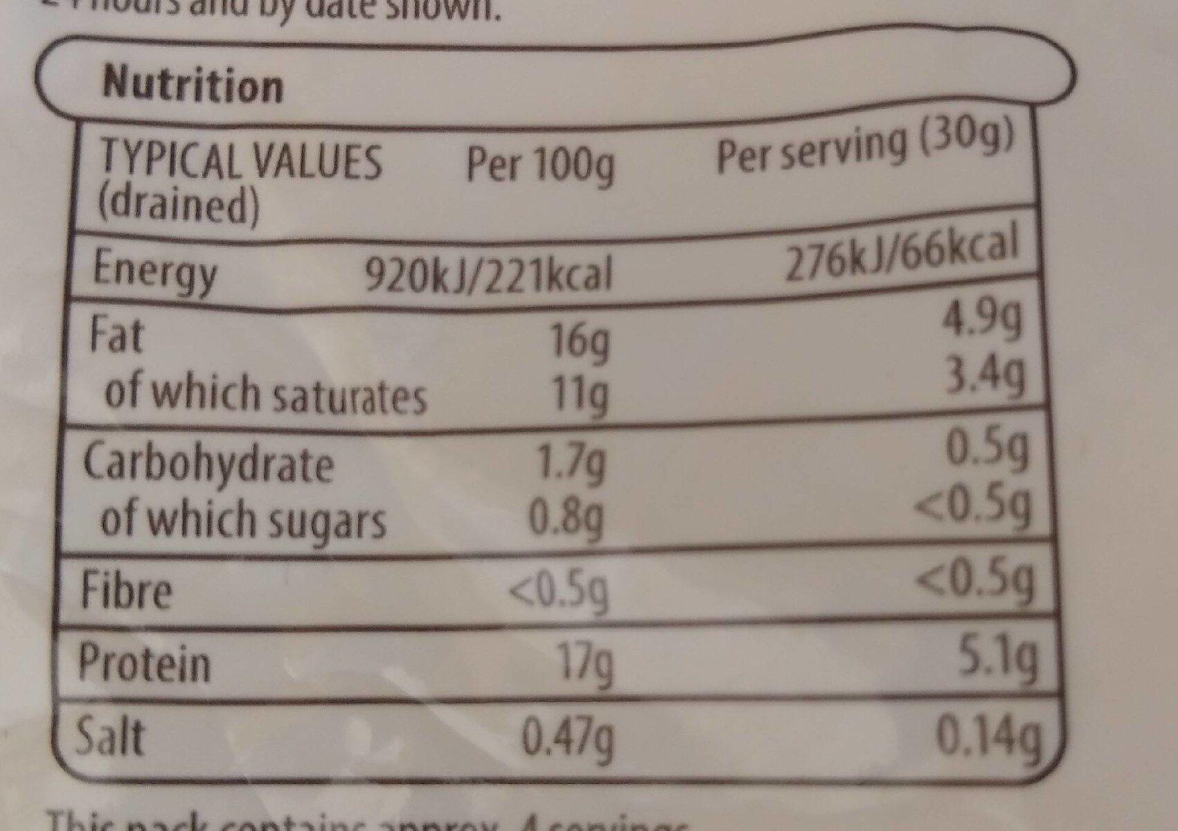 Italian Mozzarella - Nutrition facts