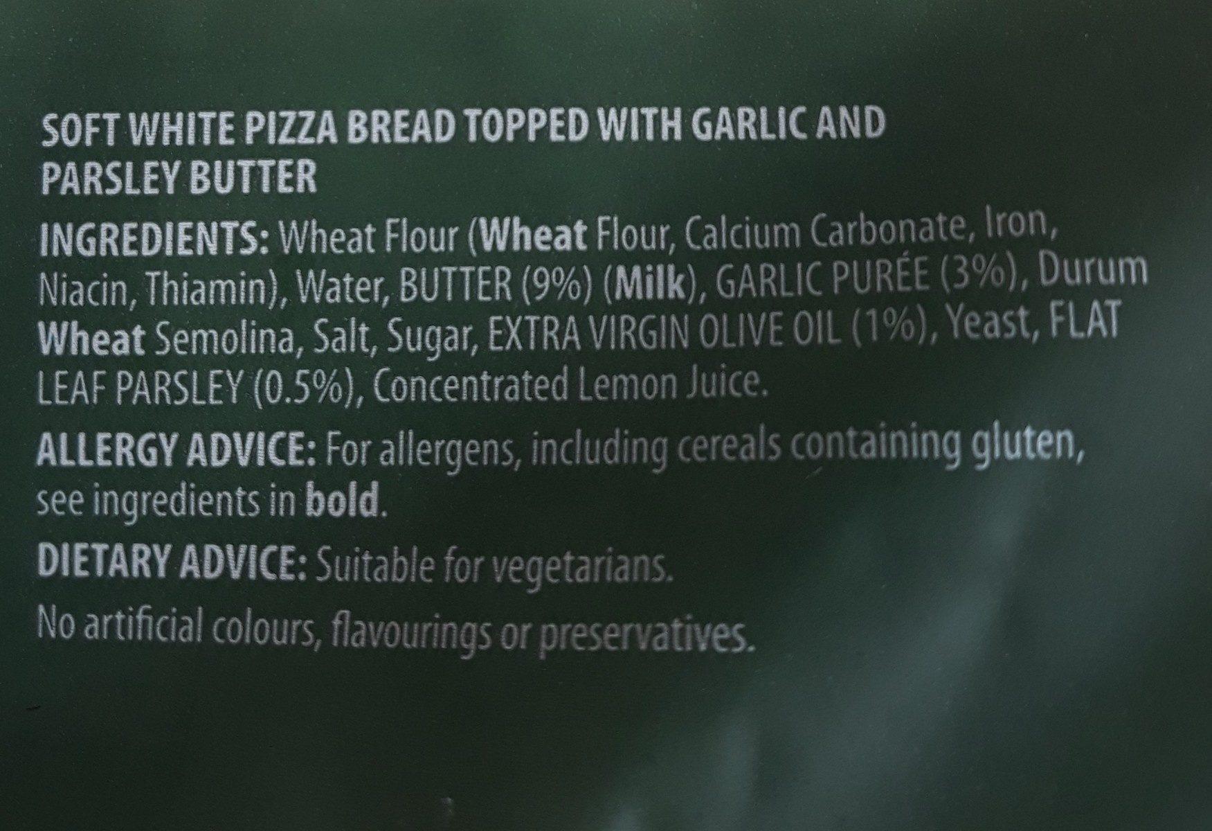 Garlic Pizza Bread - Ingrédients - fr