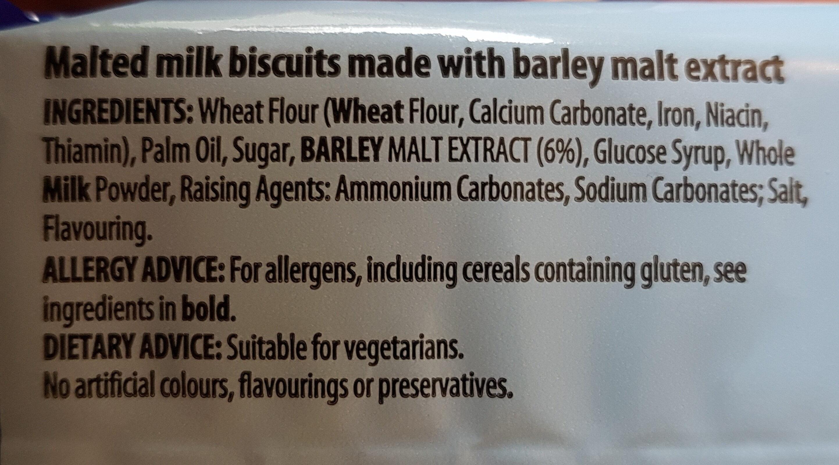 Malted milk - Ingredients - en