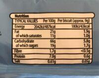 Malted milk - Nutrition facts - es