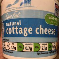Low fat natural cottage cheese - Produit - en